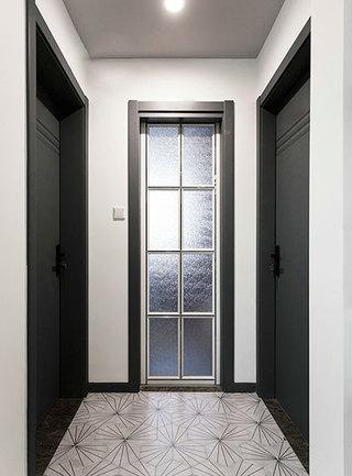 100㎡现代简约两居室玄关图