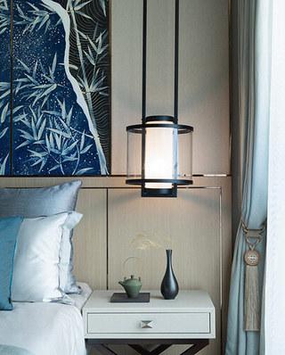 132平中式样板房卧室吊灯图片