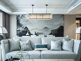 132平中式风格样板房装修 诠释东方神韵