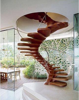 旋转楼梯设计参考图片