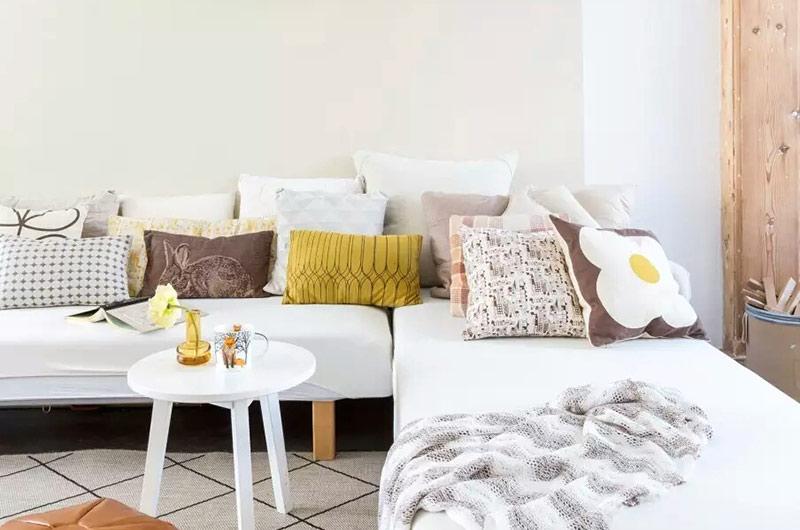 小清新北欧风 布艺沙发设计图