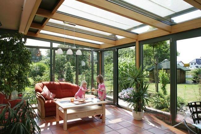家庭阳光房设计构造图