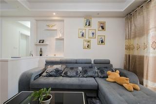 简约风格三居室装修布艺沙发图片