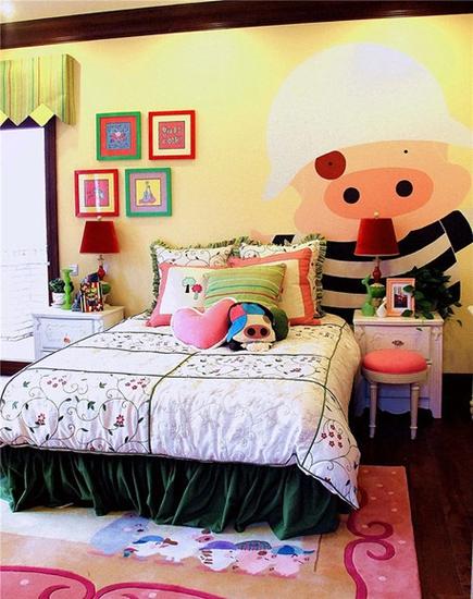 美式风格别墅装修儿童房布置效果图