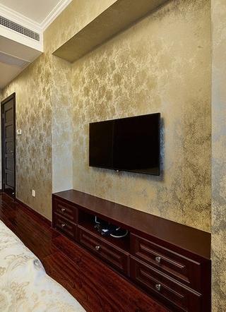 新古典风格三居电视背景墙壁纸图片