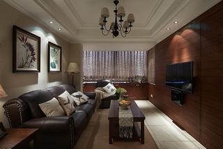 美式风格小三室装修客厅设计图
