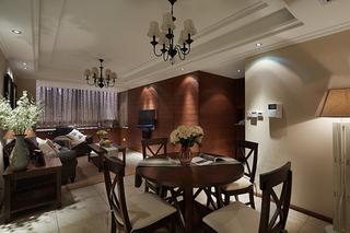 美式风格小三室装修餐厅设计装饰图