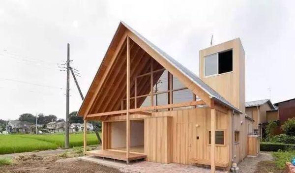 乡村农田的木结构房屋 这是一个日本农民的家