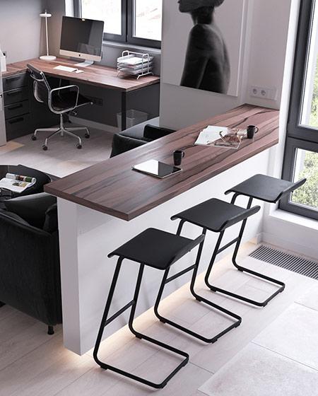 45平单身公寓吧台设计图
