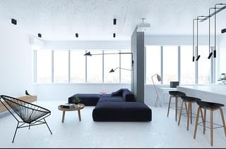 62平单身公寓客厅效果图