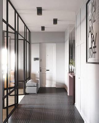 混搭风格二居室地板装修设计