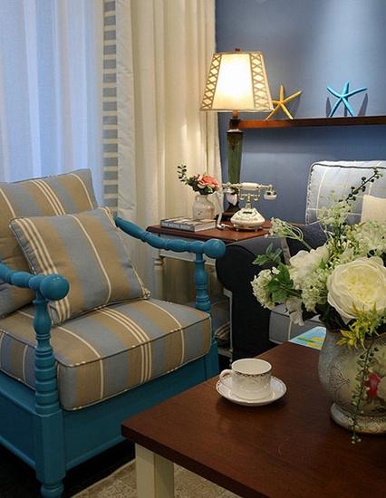 地中海风格三居装修客厅沙发设计