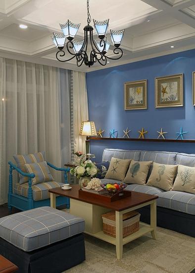 地中海风格三居装修客厅装修图