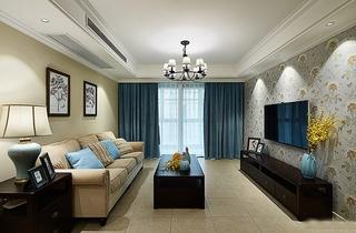 美式风格三室两厅装修客厅设计图