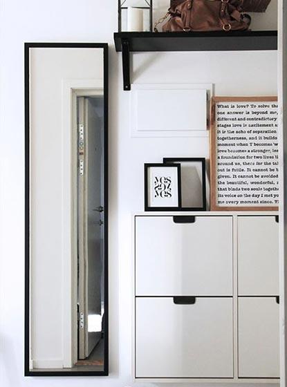 玄关鞋柜设计摆放图片