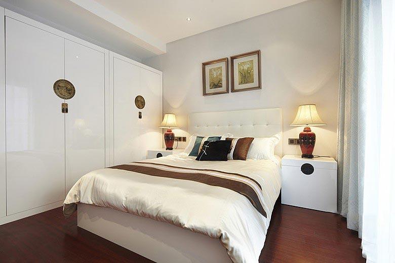 浪漫简中式卧室实景图欣赏