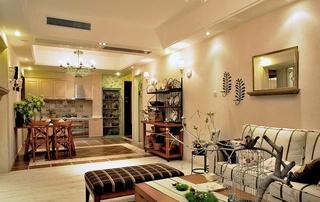 田园风格两室两厅装修客厅效果图