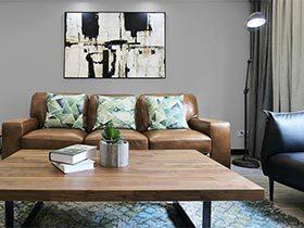 118㎡现代风格公寓实景图  意犹未尽的灰色