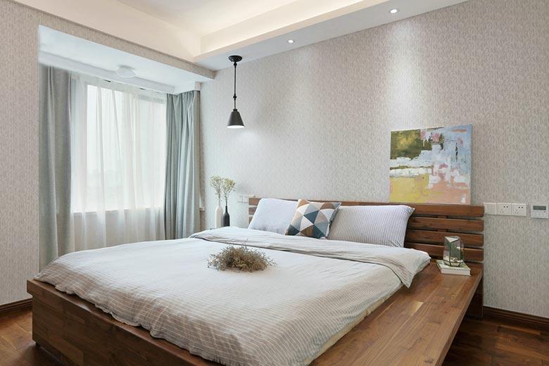 简约日式公寓卧室装修图
