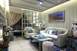 85平样板房客厅沙发图片