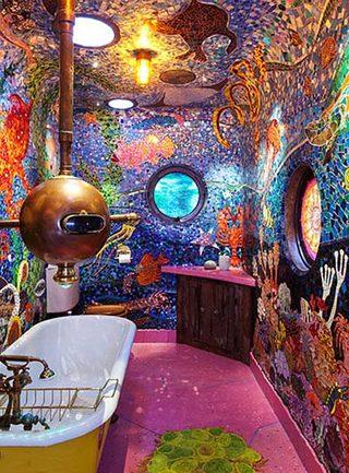 浴室背景墙装修装饰效果图