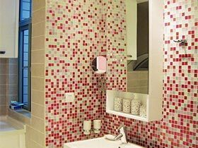 诱惑弥漫  11款浴室背景墙效果图