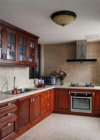160平美式小复式整体厨房设计