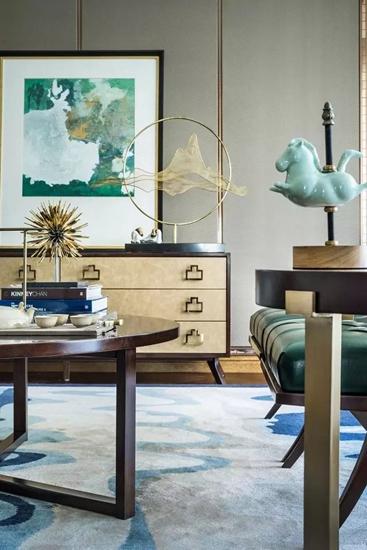 简约风格联排别墅客厅地毯图片