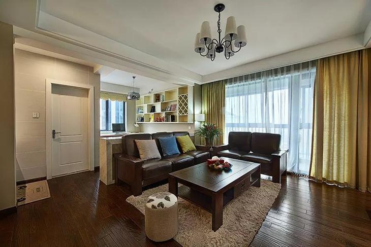 沉稳美式客厅装饰效果图