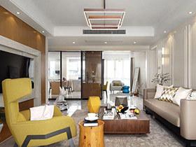 145平简约风格三居室装修 空间的对话