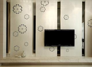 简约风格婚房装修电视背景墙设计图