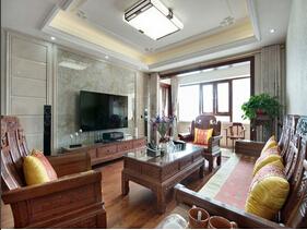 最雅致婚房设计 中式风格三室两厅室内装修