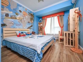 混搭风格三居室装修儿童房壁纸图片