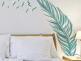 10个另类贴纸背景墙装修 省钱也能秀创意
