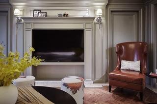 精致美式客厅 电视背景墙设计