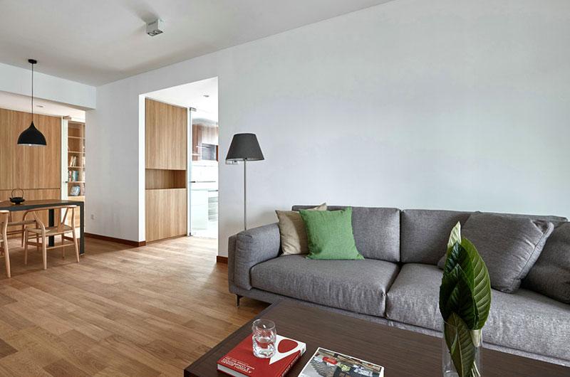 155平日式三居室客厅效果图