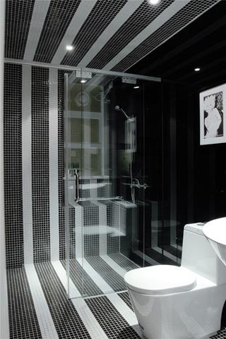 简约风格三居室装修卫生间瓷砖效果图
