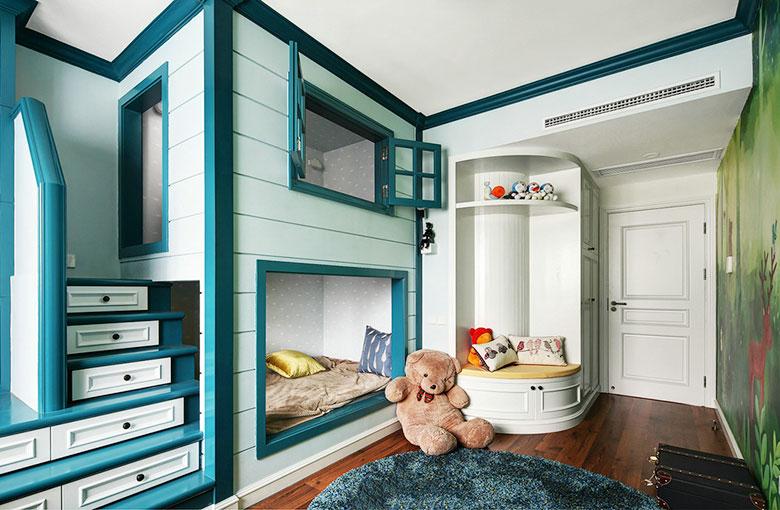 125㎡美式风格三居室儿童房图