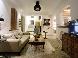 田园风格三室两厅装修客厅效果图