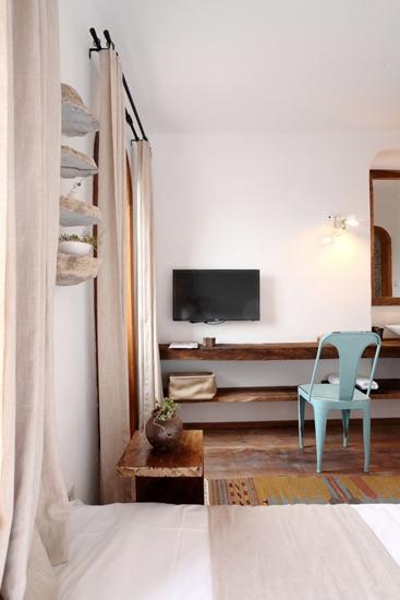 田园风格三室两厅装修客厅电视柜图片