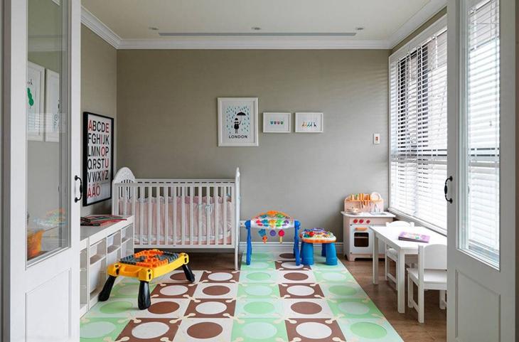 简约美式婴儿房装饰效果图