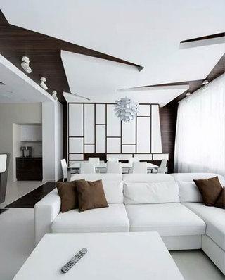 简约风格客厅另类吊顶装修图