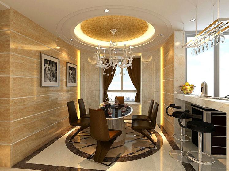 欧式风格别墅豪华型140平米以上餐厅吊顶餐桌台湾