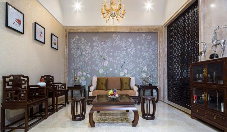 中式新古典茶室效果图
