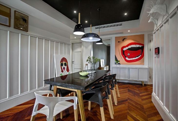 简约风格三房两厅装修餐厅效果图