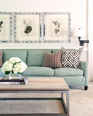 清新气质客厅沙发效果图
