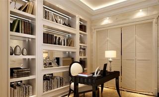 欧式风格大户型装修书房效果图