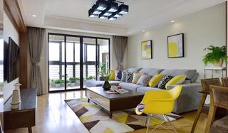 北欧风格两室两厅装修客厅效果图