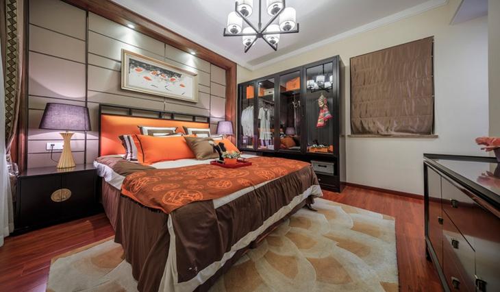 简约风格两居室装修卧室背景墙装修