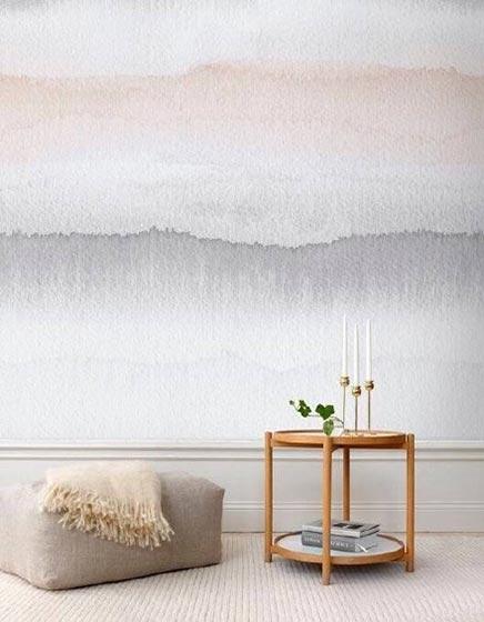 客厅手绘背景墙装修平面图